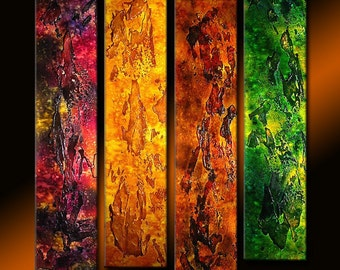 Texture Abstract Painting, Original Abstract Painting, Contemporary Colorful  Modern rich textured Painting by Henry Parsinia Large 32X36