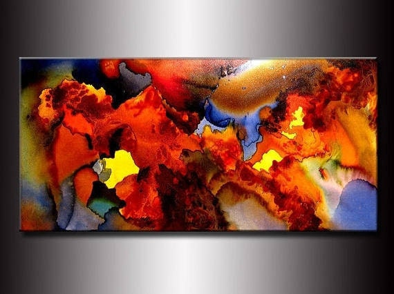 Colorful Abstract Painting, Original Modern Painting on canvas, living room  wall decor, by Henry Parsinia