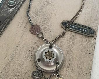 Vintage Hardware Gear MN Necklace