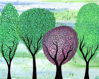 Standing out from the Crowd - Original watercolour painting