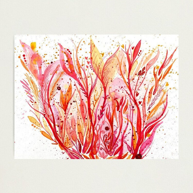 You could be fire  original abstract intuitive watercolour image 1