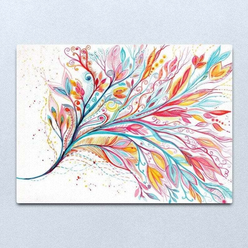 Contemplation  ORIGINAL intuitive abstract watercolour image 0