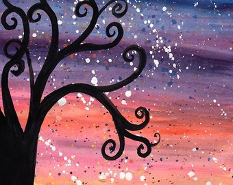 Sunset Shower - Original Watercolour Painting