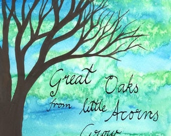 From Little Acorns - original watercolour painting