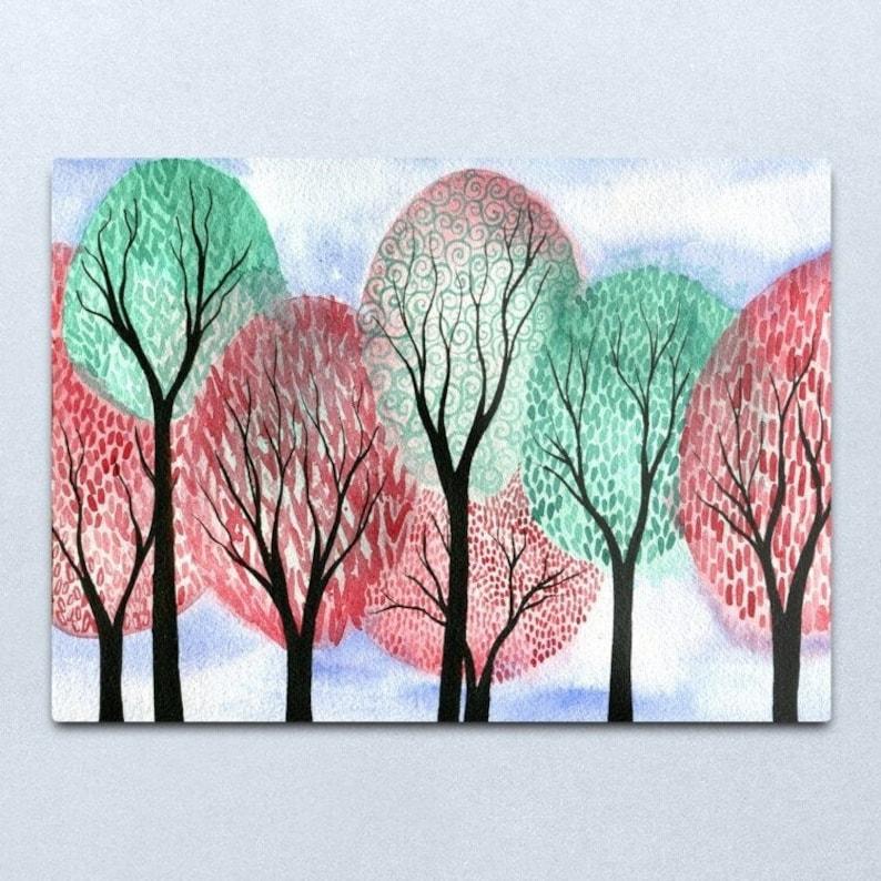 Autumn Tempus  ORIGINAL watercolour painting of whimsical image 0