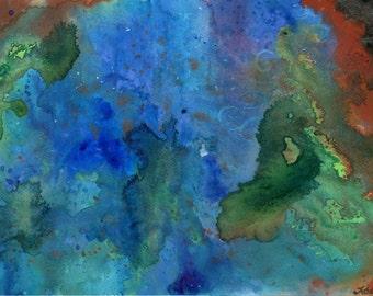 Primordial Soup - Watercolour painting