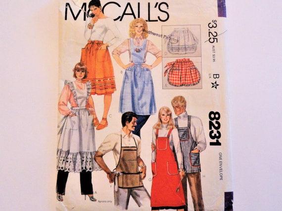 Patron de tablier Vintage, demi tablier, bavoir mens womens ...