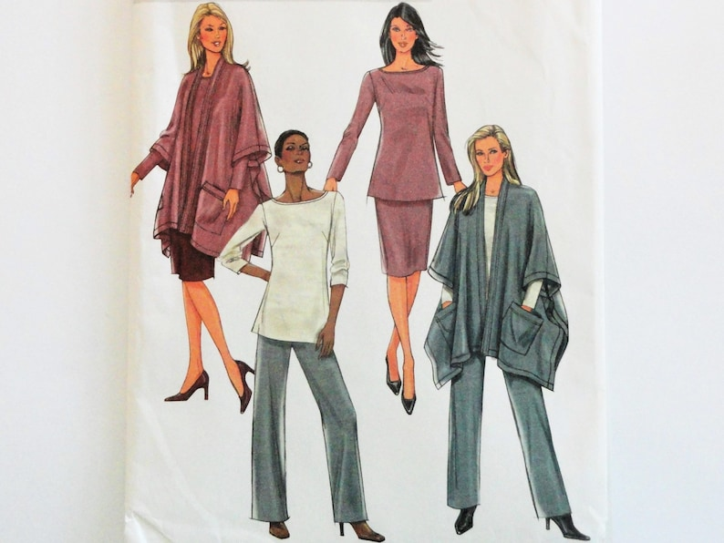 4086 Vintage Butterick SEWING Pattern Misses Jacket Pants Skirt Wardrobe  UNCUT