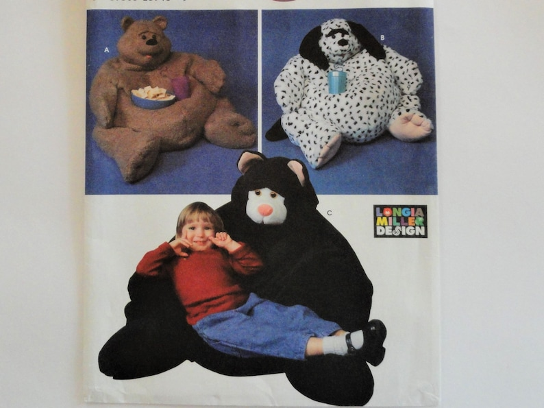 Pleasing Animal Bean Bag Chair Pattern Big Bear Cat And Dog Beanbag Kids Room Decor Photo Prop Uncut Sewing Pattern Simplicity 9229 One Size Inzonedesignstudio Interior Chair Design Inzonedesignstudiocom