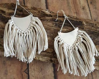 Fringe Earrings Boho Earrings Earrings Brass Earrings Gypsy Jewelry Tassle Earrings Boho Chic Jewelry Arrowhead Earrings Dynamo Coachella