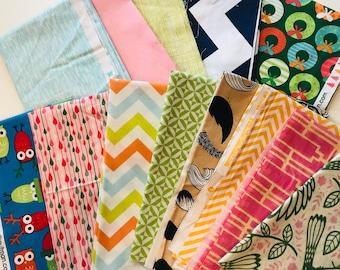 Assorted FQ  bundle, 13 fabrics total