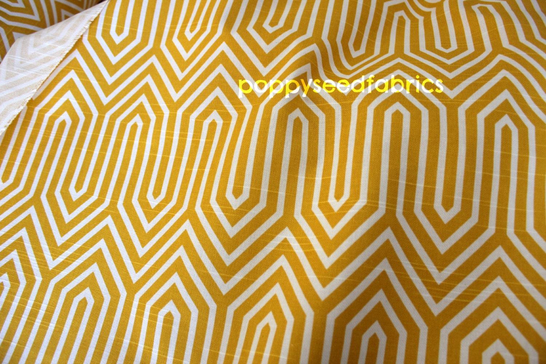 Premier Prints Trails Corn Yellow-Slub Home Decor Fabric 1