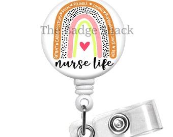 Badge Reel Medical Badge Reel Nurse Badge Reel Medical Badge Reel Moon and Star Nurses Badge Reel RN Badge Reel Sunshine  Badge Reel