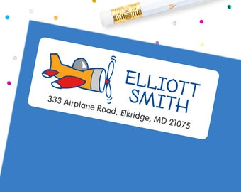 Airplane Address Labels - Sheet of 30