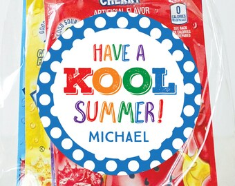 """Last Day of School Stickers - """"Have a KOOL Summer"""" - Sheet of 12 or 24"""