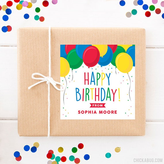 Personalized Birthday Gift Labels