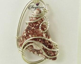Viper Jasper Pendant, Jasper Pendant, Wire Wrapped Pendant, Jasper Necklace, Gemstone Pendant, Natural Jasper, Jasper Jewelry