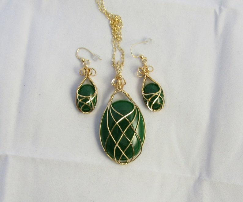 Malaysia Jade Necklace Malaysia Jade Wire Wrapped Wire Wrapped Jewelry Handmade Jewelry Jade Jewelry Jade Necklace