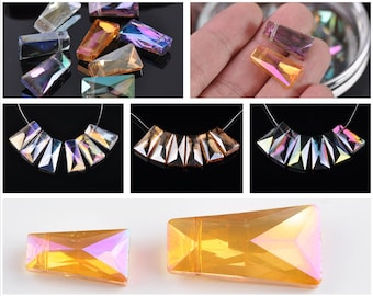 Genuine Pink Moonstone Graduated Trapezoid Shape Beads Size 16x23mm to 28x35mm