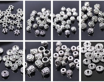 100X 6 mm Round Spacer Beads Jewelry DIY Making Loose Charm Silver WHOLESALE