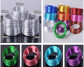 Aluminum Craft Wire 8 Colors Coil Jewelry Floral Making Beading Wire 19 Feet//Roll Kissitty 12 Gauge 2mm