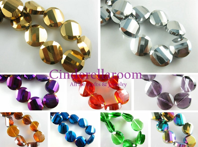 50pcs Plating Square Faceted Crystal Glass loose spacer Beads Jewelry Making DIY