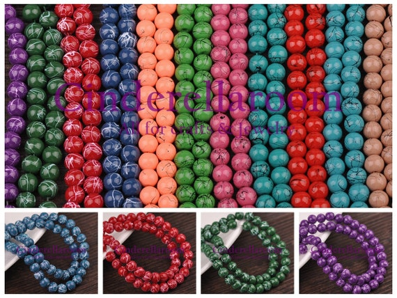 Wholesale 100Pcs Crystal Glass Bicone Faceted Beads Spacer Jewelry Findings 6mm