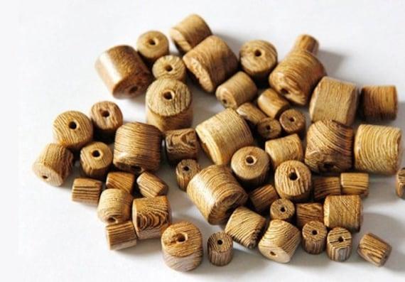 Wholesale 6//8//10//12//15mm Barrel Wood Loose Spacer Beads DIY Jewelry Findings