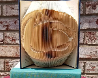 Penn State Nittany Lion folded book art sculpture