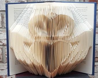 Claddagh folded book art sculpture - Irish wedding ring
