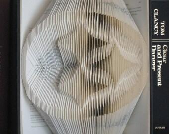 Pittsburgh Steelers folded book art sculpture
