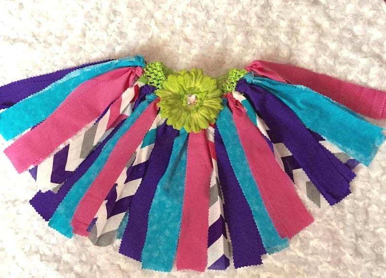 Scrap Fabric Tutu Crochet Headband Tutu Chevron Tutu Etsy