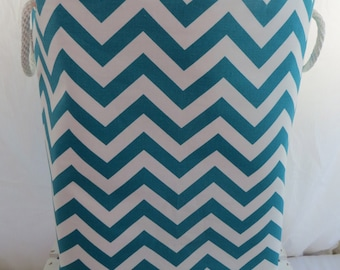 Laundry Hamper, Laundry Bin, Toy Storage, Chevron 12 x 10 x 20  Choose your colors water repellent linings available