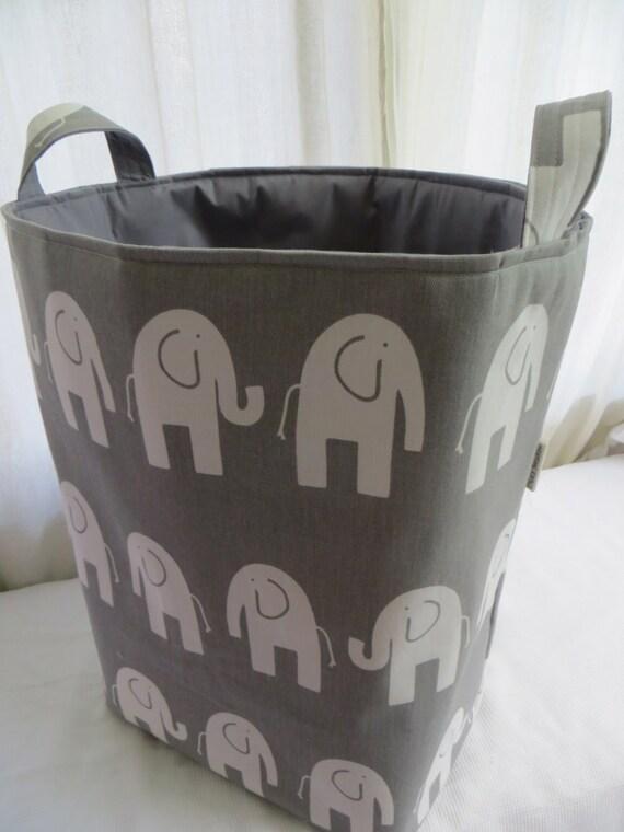 Genial Storage Bin Laundry Hamper Toy Basket For The Nursery Elephant   Etsy