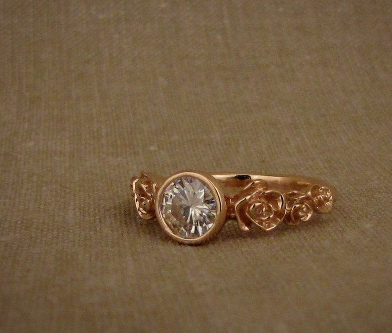 Rosy Solitaire 14K Made to Order image 0