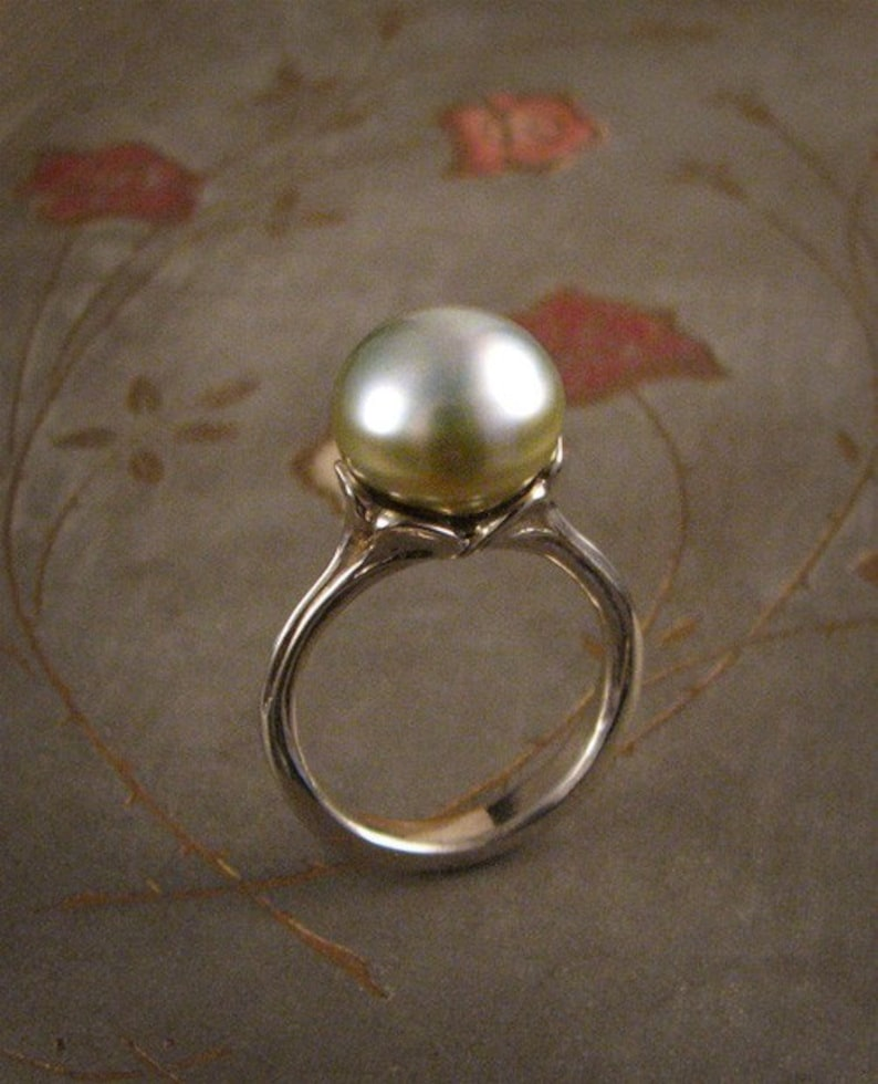 Luscious Tahitian Pearl Ring Mounting 14K gold  Made to image 0