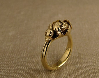 Peony Solitaire (14K) Made to Order