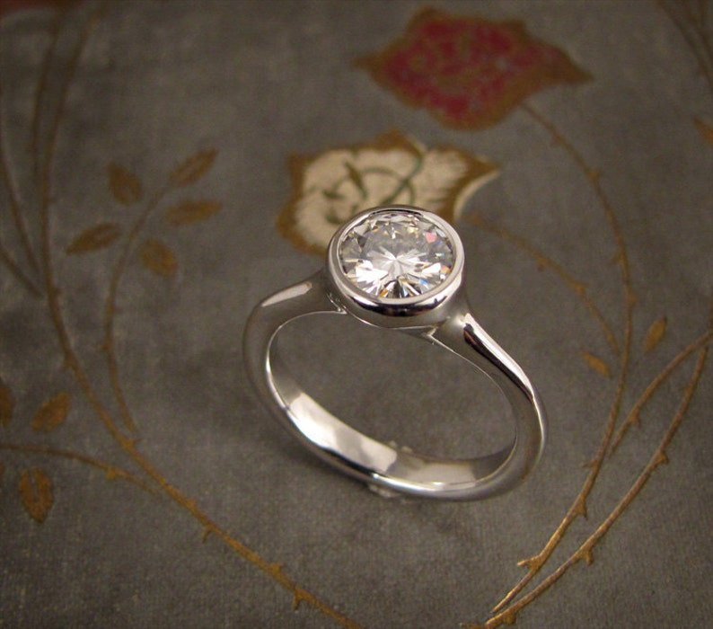 1ct Elegant Solitaire Engagement Ring  Made to Order image 0