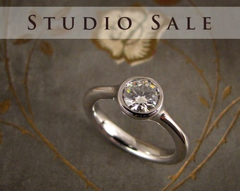 STUDIO SALE: Ready to Wear Low-Profile Solitaire (size 4.25)
