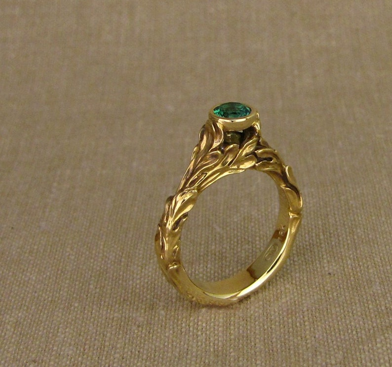 Romantic High-Profile Solitaire 14K Made to Order image 1