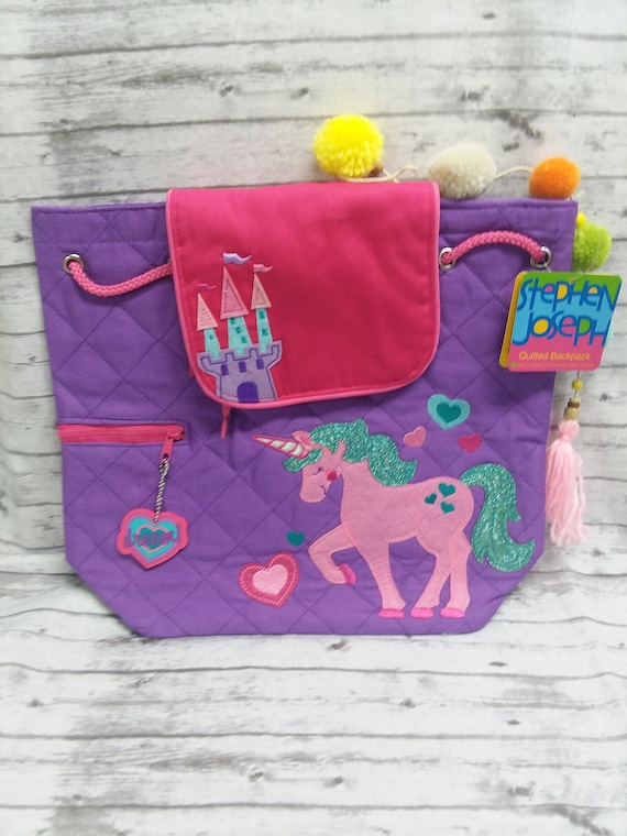 2b076c7ec5f9 Unicorn backpack personalized Stephen Joseph quilted