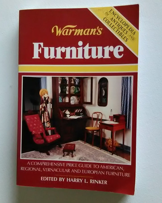 Huge volume Warman\'s antique furniture guide book. Chippendale, Queen Anne,  mid century modern, etc. complete guide with photos!