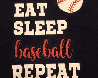 Eat Sleep Baseball Repeat shirt tank top t shirt raglan