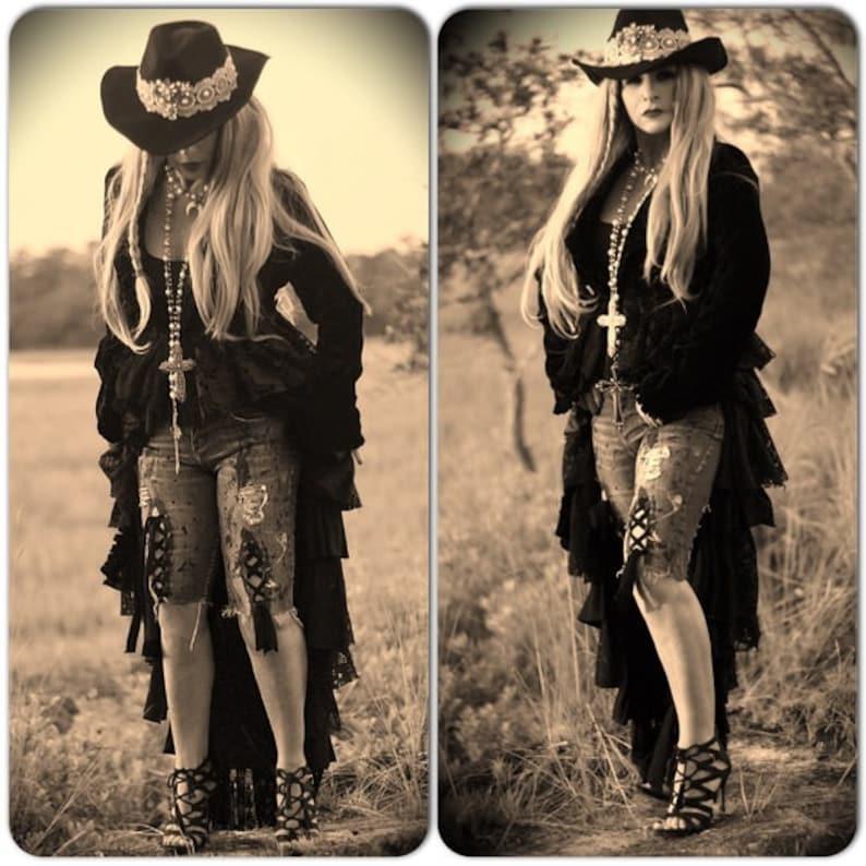 59bf0e88d7dda S Stevie Nicks velvet coat Gypsy spell long velvet ruffle