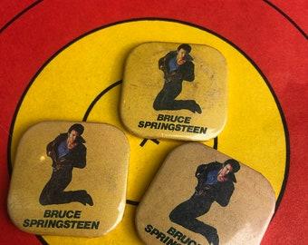 Vintage  Bruce Springsteen Square Button