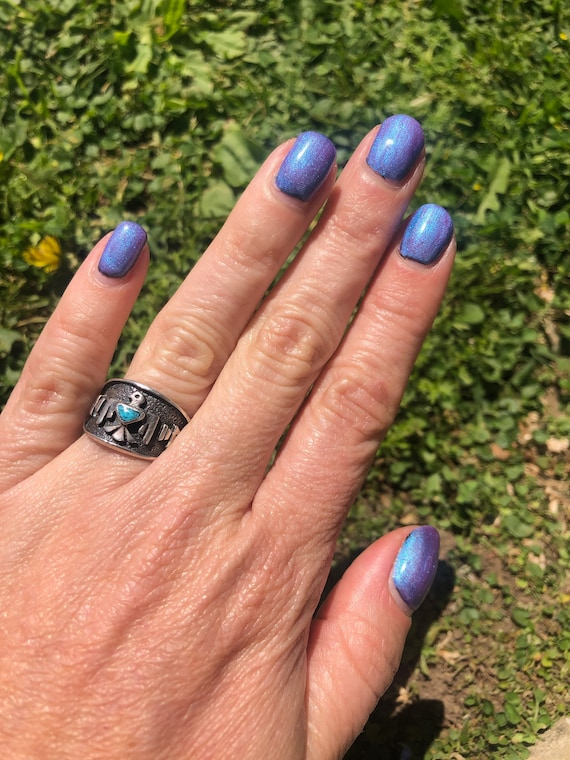 Old Pawn Thunderbird  Turquoise Ring