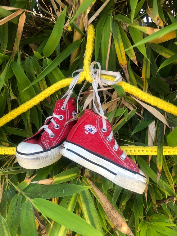Vintage USA Made Converse Baby Shoes
