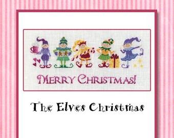 Cross Stitch Chart - The Elves Christmas