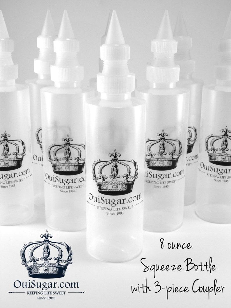 8 oz. Decorating Squeeze Bottle with 3-piece Coupler Set image 0