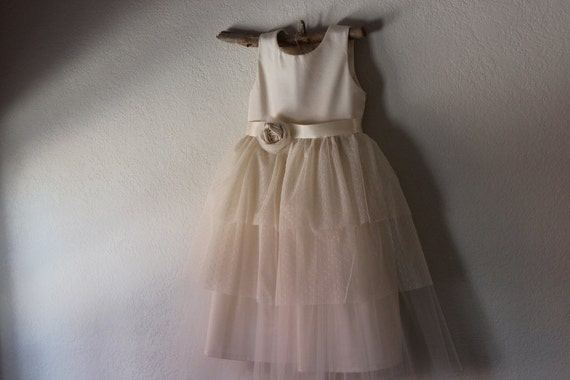 Flower girl dress natural organic cotton flower girl dress etsy image 0 mightylinksfo